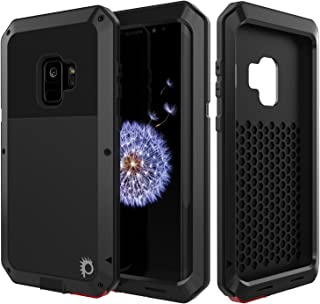 Galaxy S9 Metal Case, Heavy Duty Military Grade Rugged Armor Cover [Shock Proof] Hybrid Full Body Hard Aluminum & TPU Design [Non Slip] W/Prime Drop Protection for Samsung Galaxy S9 [Black]
