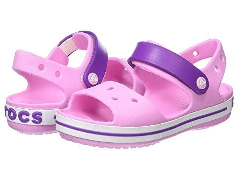 Crocs Kids Crocband Croslite Hook /& Loop Sandal Pool Candy Pink