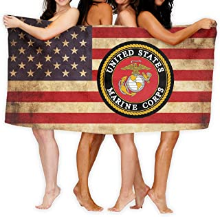 Sajfirlug United States Marine Corps Fashion Over-Sized Beach Bath Towels
