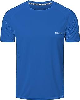 HUAKANG 3 Pack T Shirts Men Breathable Sport Shirts Men Cool Dry Running Tops Short Sleeve Gym Tops for Men