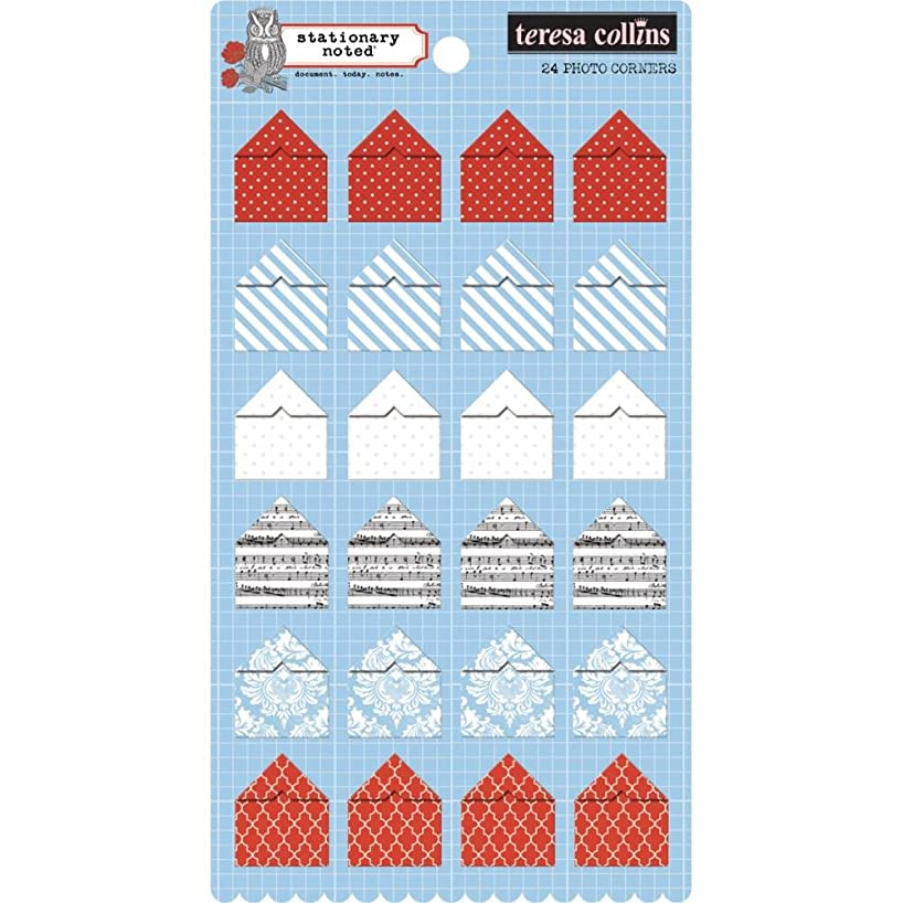 Teresa Collins Stationary Noted Photo Corners 24/Pkg-6 Designs/4 Each