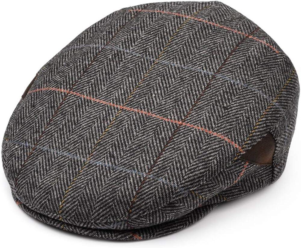 Newsboy Cap for Men, Flat Cap, Ivy Hat Wool Blend, Mens Caps, Ga