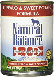 Natural Balance Limited Ingredient Diets - Buffalo & Sweet Potato - 12 x 13 oz