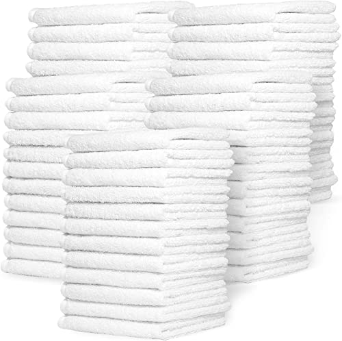 wholesale Zeppoli Wash Cloth Towels by Royal, 60-Pack, popular 100% Natural Cotton, 12 x lowest 12, Soft and Absorbent, Machine Washable, White (60-Pack) sale