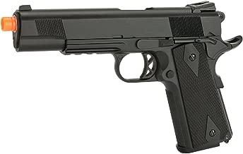 Evike - WE-USA NG3 1911 KB Custom Airsoft Gas Blowback Pistol with Railed Frame/Threaded Barrel - Black - (27790)