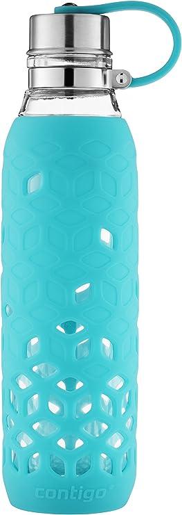 בקבוק מים Purity עשוי זכוכית מבית קונטיגו עם שרוול, 0.6 74109