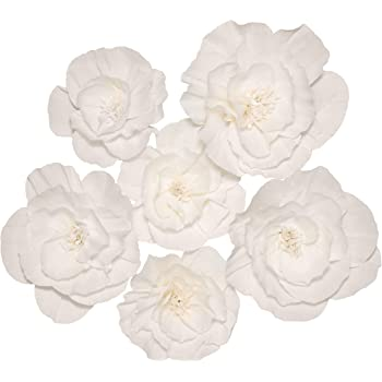 Paper Flowers Decorations for Wall, Flower Wall Decor, Wall Flowers Decorations, 3d Flower Wall Decor | Wall Flower Wall Decor, Large Paper Flowers, Paper Wall Flowers, Paper Flowers Decorations White