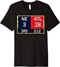 NE 3 ATL 28 Final T-shirt 2 Sides 1 Game