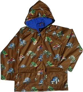 Foxfire Kid's Boys Brown Monster Truck Raincoat