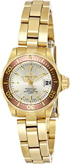 Invicta Pro Diver Women's Gold Dial Stainless Steel Band Watch - 12527