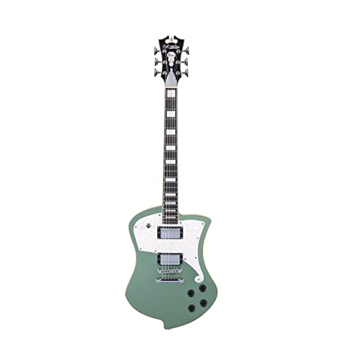 DAngelico Premier Ludlow Electric Guitar - Army Green