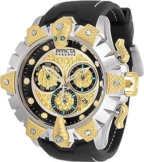 Invicta - Reserve Venom Reloj de cuarzo de acero inoxidable con correa de silicona, negro, 26 (Modelo: 32132)