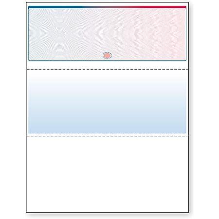 DocuGard Blue/Red Prismatic Galaxy Top Check, 8.5 x 11 Inches, 24 lb, 500 Sheets, 1 Check Per Sheet (04562)