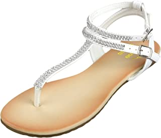 Best Womens Slingback T-Strap Rhinestone Ankle Strap Thong Sandals Review