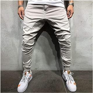 LUKEEXIN Jogger Elastic Men Ripped Skinny Jeans Biker Broken Slim Fit Denim Pants Harem Style Pants