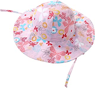 AWAYTR Baby Toddler Sun Hats - Kids Summer Sun Protection Hat with Chin Strap