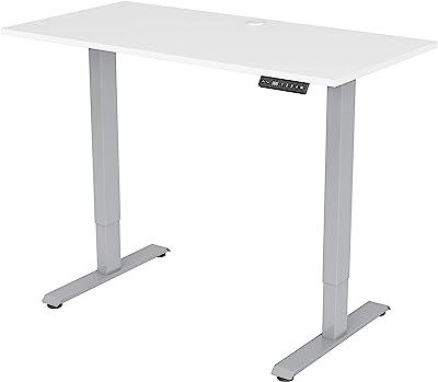 Lorell Height-Adjustable 2-Motor Desk, White
