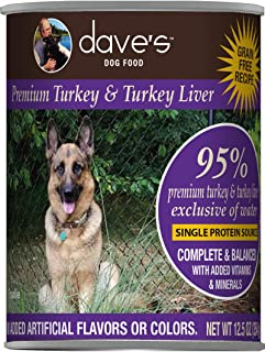 Dave's Pet Food Healthy & Grain Free Canned Dog Food for Weight Loss
