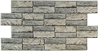 comprar comparacion Panel de PVC de 0,4 mm de grosor, imitación piedra expandida clara, 98 x 48 cm