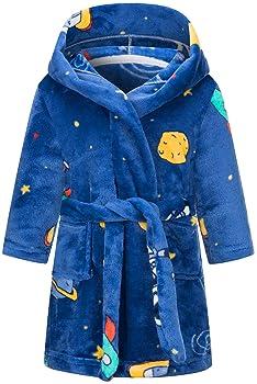 pijamas para ni/ñas y ni/ños con capucha de franela LLXX Albornoz infantil para ni/ñas y ni/ños