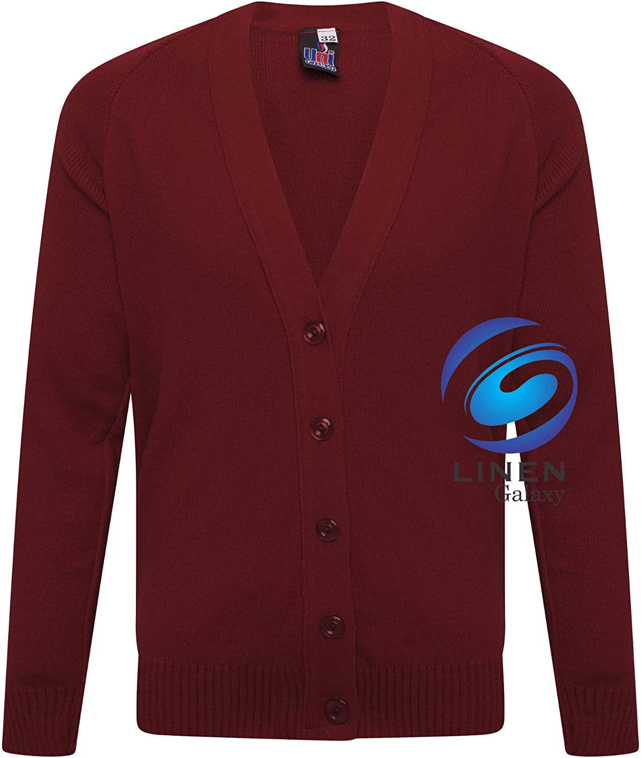 clicktostyles Kids Boys Girls School Uniform Knitted Cardigan V Neck Button UP Front Jumpers