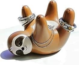 Ku-dayi Cute Women Gifts Sloth Ring Holder Dish Birthday Gifts for Mother Grandma Daughter Girlfriend Auntie Mrs Bride