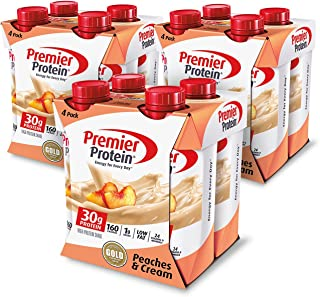 Premier Protein Protein Shake, Peaches and Cream, 12 Count
