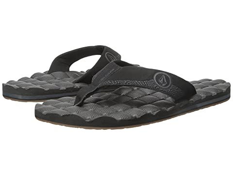 Volcom Sandals Mens Volcom Recliner Flat Black Destructo 3409513