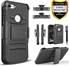 Pixel 3 XL Case, Google Pixel 3 XL Case With [Premium Screen Protector Included] Combo Holster Phone Cover [Not Fit Pixel 3] Built-in Kickstand and Heavy Duty Belt Clip Holster with Stylus Pen-Black