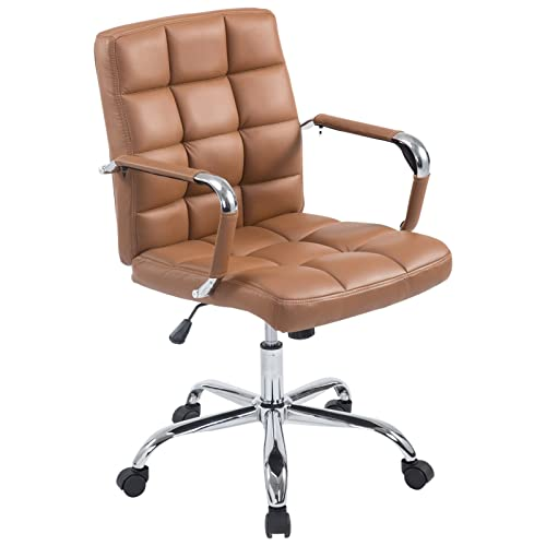 Poly And Bark EM 251 TER A Office Chair, Terracotta
