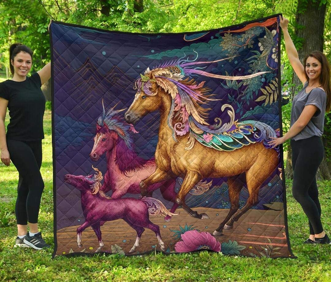 Personalized Horse Quilt Gift for C Lovers Sets Max 74% OFF Soft Manufacturer direct delivery Your