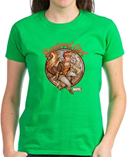Squirrel Girl Rooftop Women's Dark Cotton T-Shirt