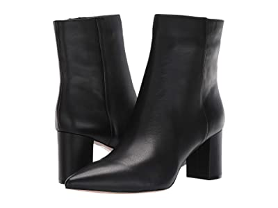 J.Crew Leather Pointy Toe Maya Boot (Black) Women