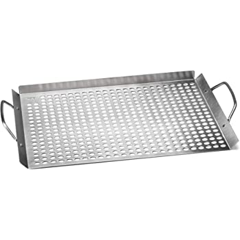 """Outset 76632 Stainless Steel Grill Topper Grid, 11""""x17"""""""