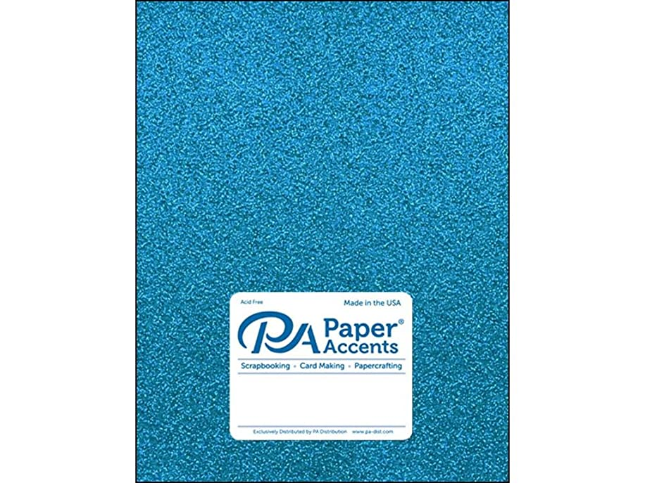 Paper Accents 85lb Ocean Blue 5pc Cdstk Glitter 8.5x11 Oceanblue