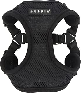 Puppia PARA-HC1533-BK-L Black Soft Harness C Pet-Vest-Harnesses, LARGE