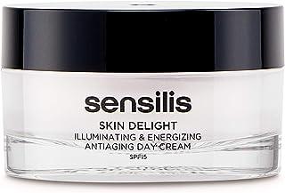 Sensilis Skin Delight - Crema de Día Antiedad Iluminadora y Energizante con SPF15 Vitamina C y Bayas de Goji - 50ml