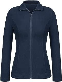 Women Fit Ultra Soft Warm Lightweight Coat Full Zip Fleece Jacket