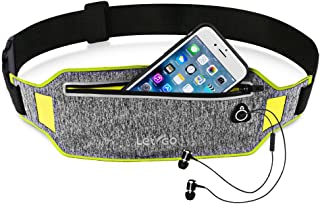 Letigo Running Belt Waist Band Belt Bag Fanny Pack, Water Resistant, Hip Pack Bum Bag For Man Women Sports Travel Running Hiking / Money Iphone 6 / 7 6S (Waist Pack)