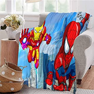HouseDecor Couch Throws Spiderman Homecoming Movie Art Li Blanket for Bed Couch 60X35 Inch