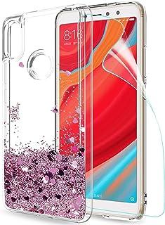 dc19a91e484 LeYi Funda Xiaomi Redmi S2 / Redmi Y2 Silicona Purpurina Carcasa con HD  Protectores de Pantalla