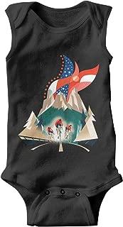 Gustaix Zimund American Flag BMX Cycling Baby Onesies Bodysuit