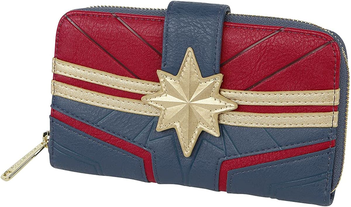 Loungefly x We OFFer at cheap prices Captain Marvel 35% OFF Wallet Debossed Suit