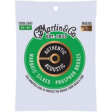 MARTIN アコースティックギター弦 AUTHENTIC ACOUSTIC Marquis Silked MA530S Extra Light .010-.047