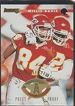 1996 Donruss Willie Davis Chiefs Press Proof Insert Football Card #91