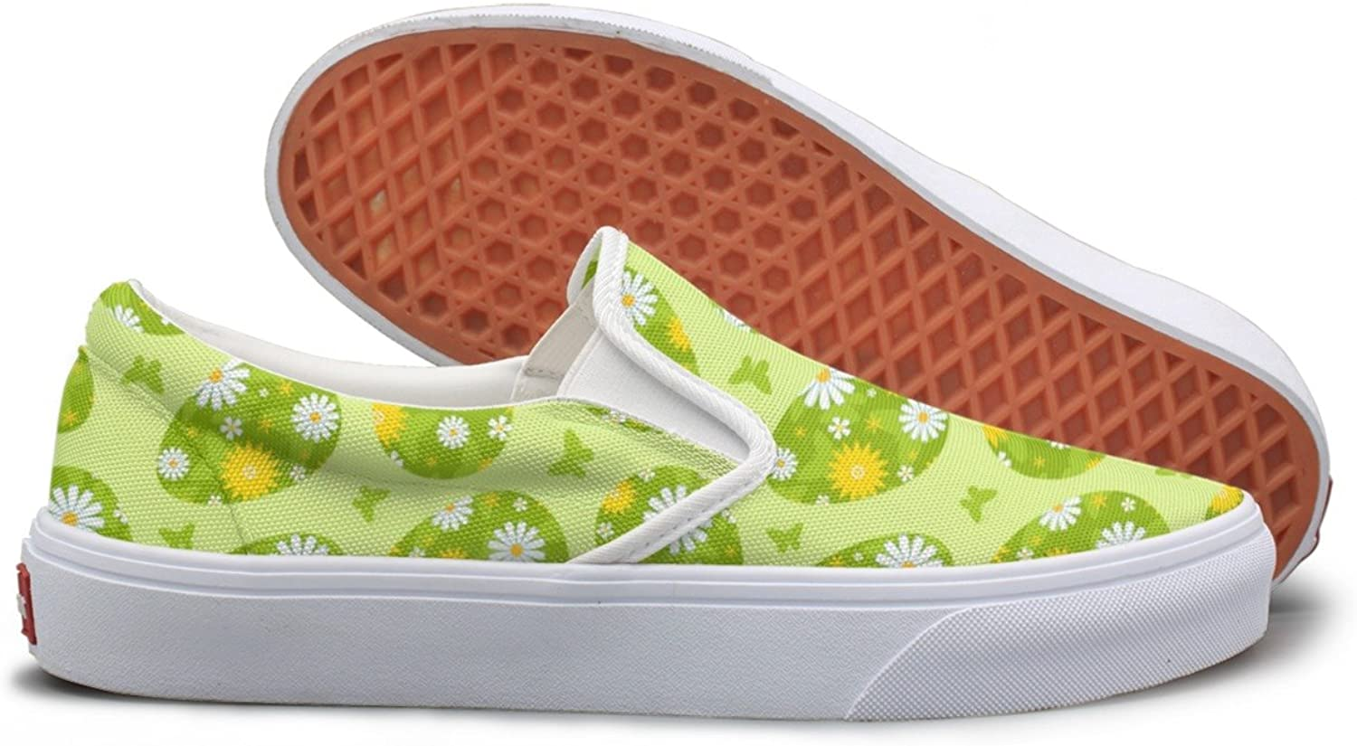 SEERTED Easter Green Daisy Eau So Fresh Canvas shoes Women Slip On