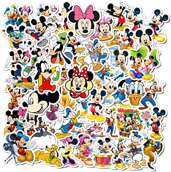 50 PCS Mickey Minnie Mouse Stickers - Funny Waterproof Stickers for Laptop, iPad, Phone, Suitcase, Skateboard, Guitar, Bottles, Mugs, Bicycle : Amazon.ca: Electronics