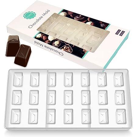 O'Creme - Molde transparente para chocolate (policarbonato, 24 cavidades)