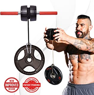 DMoose Fitness Wrist Exerciser, Forearm Blaster, and Strength Trainer, Hand Grip Foam Roller Home Gym Equipment