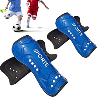 Chanvoo Youth Soccer Shin Guards, Professional Sports Calf Protective Gear Soccer Equipment for 6-12 Years Old Kids, Toddlers, Youths, Men, Women, Boys, Girls.